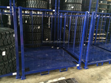 SR-BF stack rack with removable frames and steel board for tires storage
