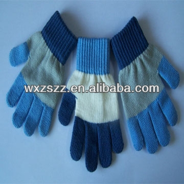 Nice design knit gloves with nails childrens magic hot sale