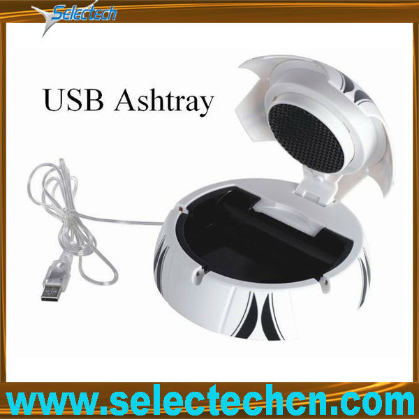 USB batteries football smokeless ashtray SE-3108U
