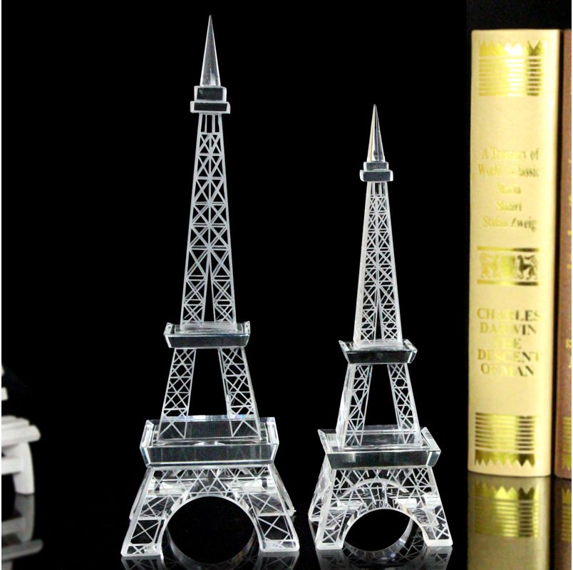 Paris Tower Crystal Business Gifts Home Office Decoration