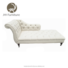 French rustic home and hotel furniture wholesale long wedding upholstered button tufted ottoman sofa