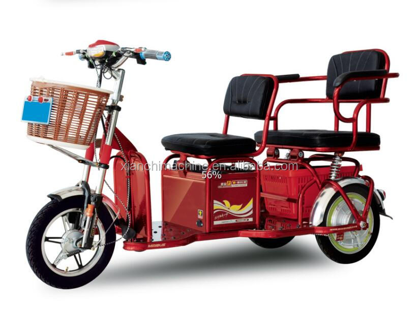 cargo electric tricycle for 2 person