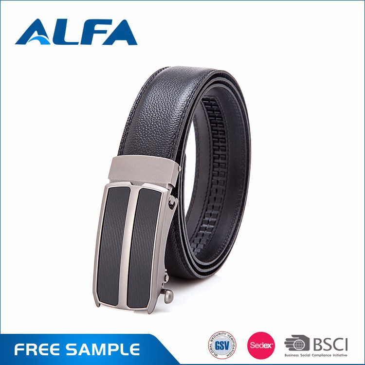 Alfa Wholesale Custom Designer Automatic Zinc Alloy Buckle Belts Leather Men