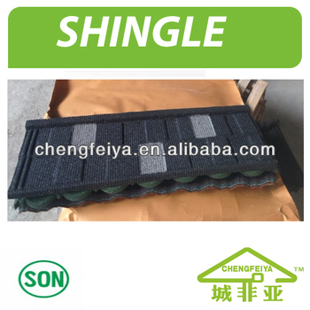 Shingle Type Patch Stone Coated Metal Roofing Tile