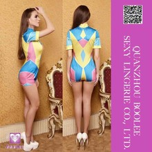 2015 new style spring fashion women clothing tight short-sleeved playsuit sexy sport jumpsuit