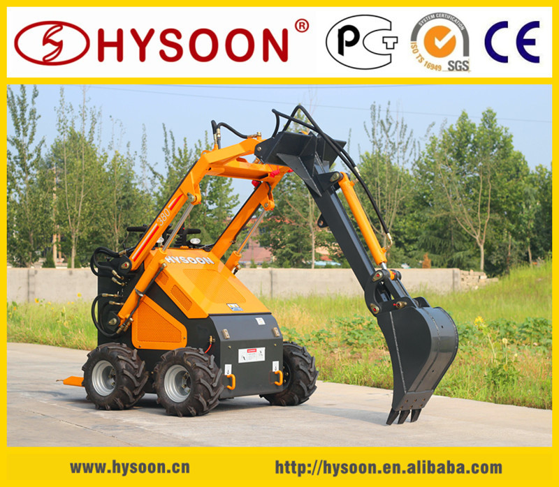 HYSOON HY380 Chinese mini loader mini skid steer