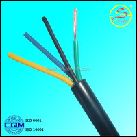 high quality Copper core PVC insulation and sheath Flexible wire RVV 4 core 10mm pvc cable with factory competitive price