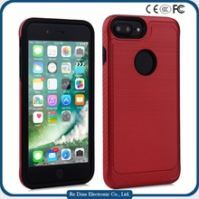 Cell phone accessory 2 In 1 Patter Silicone and PC Rugged Hybrid protective case for iPhone 7 plus
