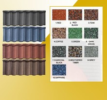 water proof iron colorful steel natural stone coated roof tile