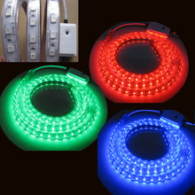 High voltage led light strip 60leds/m battery powered led rgb light strip 110V/220V led ribbon