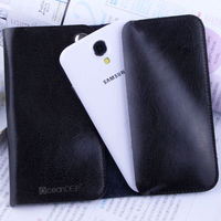 Top quality genuine Leather purse style pouch cover case For Samsung Galaxy S4 leather case mobile accessory