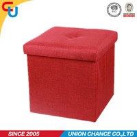 luxury suede pouf ottoman home funiture storage stool for bedroom funiture