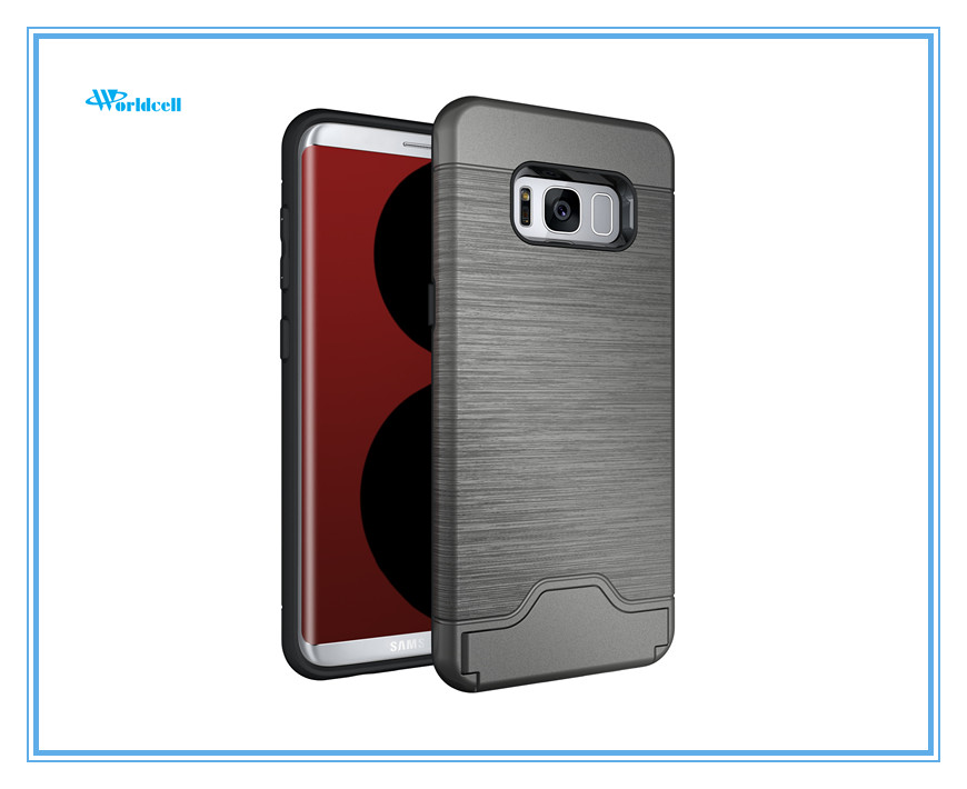 wholesale smart phone case for Samsung S8 with credit card slots