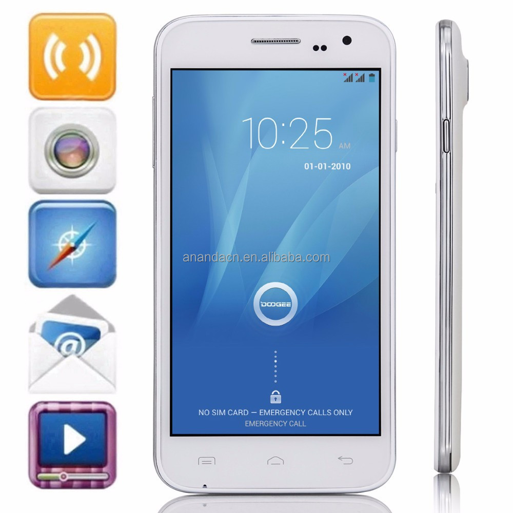 Original Brand New China Mobile Phone 5.0inch 854*480 Mtk6582 Quad Core Doogee DG 310