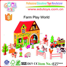 Yunhe Wooden Toys Factory Direct Sale High Quality Kids Farm Play Set