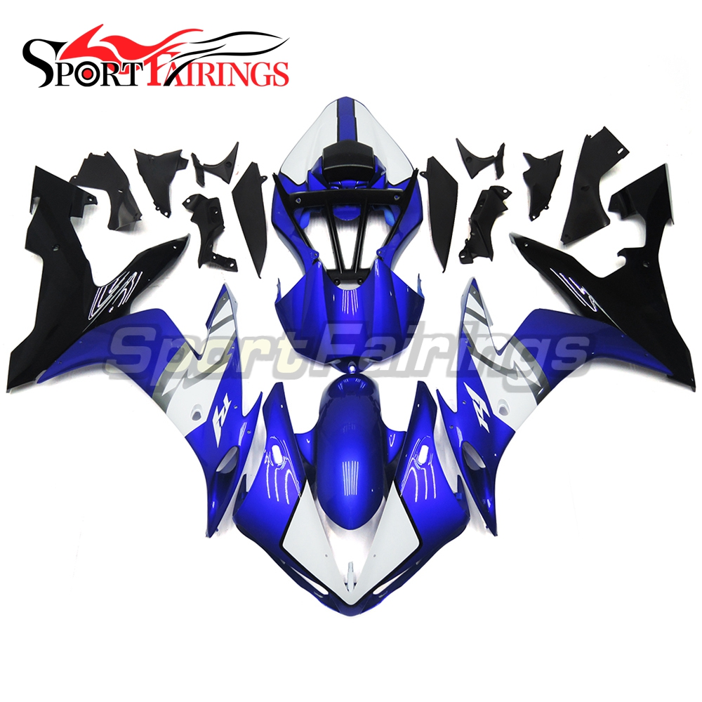 Full Fairings For Yamaha YZF <strong>R1</strong> 04 05 06 ABS Plastic Injection Motorcycle Fairing Kit Body Kits Blue White Black