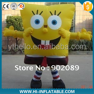 Cute Yellow Inflatable Cartoon Characters/ Inflatable Spongebob Model / inflatable mascot