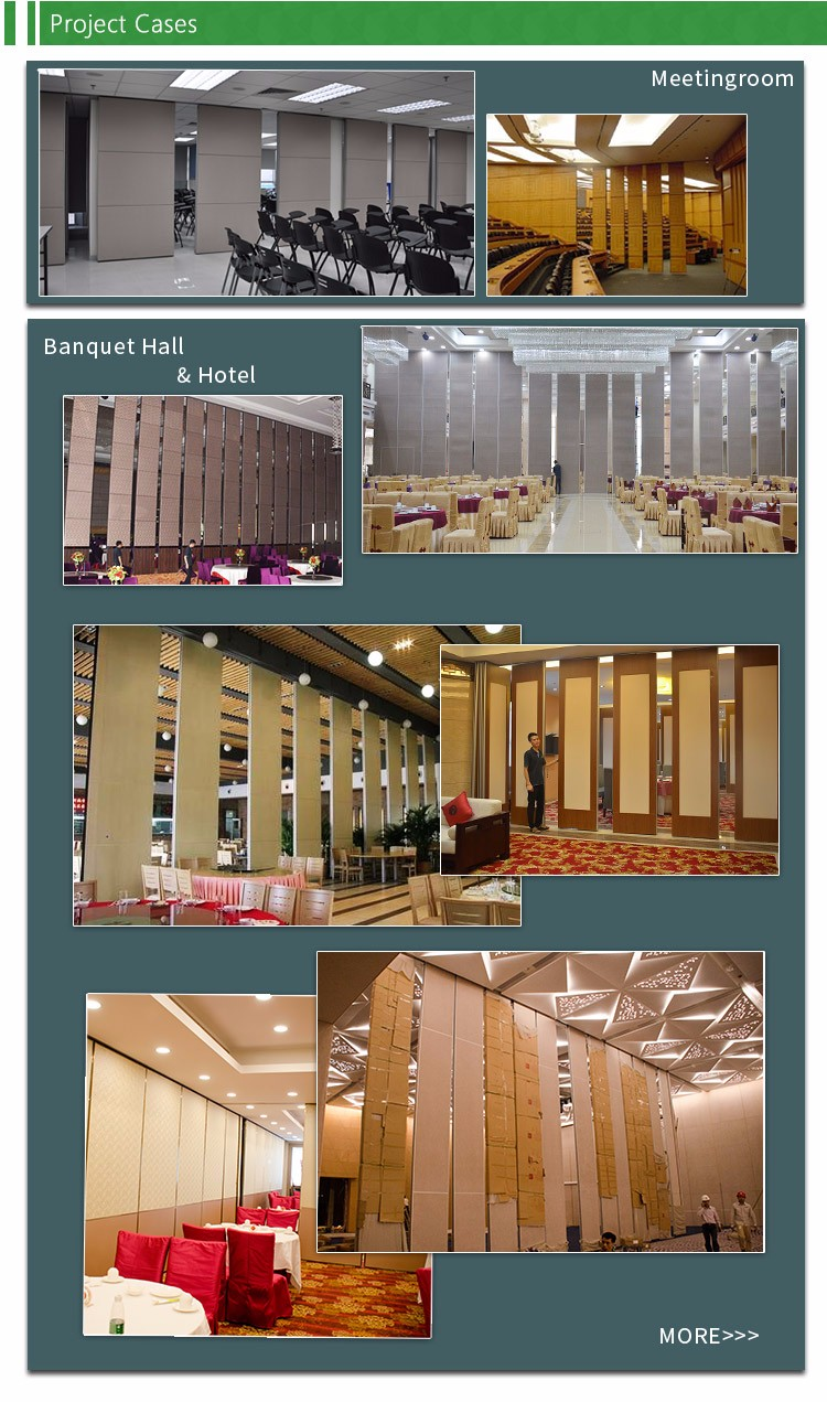 Custom Made Aluminium Folding Movable Partition Wall For Concert Hall And Cinema