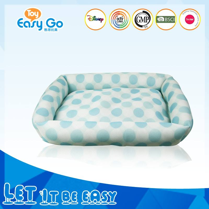 Hot Sale Super Soft Big Size Square Ligh Blue Pattern Pet Dog Kennel