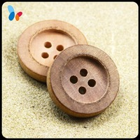 nature color round sew on button wood shirt button