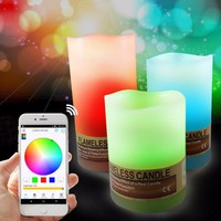 wireless light controller Bluetooth FreeAPP no drip pillar candles