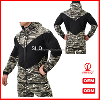 Wholesale camouflage printing Hooded Sweatshirts/cotton hoodie with zip Manufacturer H-1387