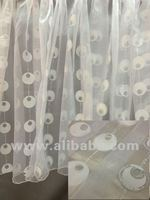 White circle burnout curtain sheers