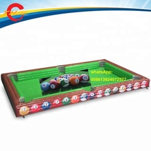 8x5m inflatable snooker pool table Inflatable football Billiards Table inflatable pool soccer table