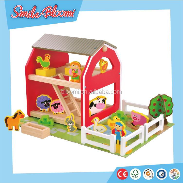 2016 colorful playset farm family house