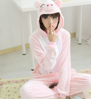 teen gils pink pig Cartoon Cosplay Costume Sleepwear