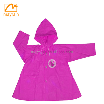 Printed LOGO Long Sleeve Plastic Raincoat