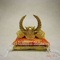 The samurai armor gold plate metal product japanese manufacturing