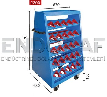 Cnc Tool Holder Mobile Trolley Cnc Cart Cnc Tool Storage