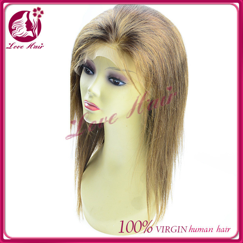 likeable trim straight full lace wig approved human hair full lace wig permanent wig color brown dark
