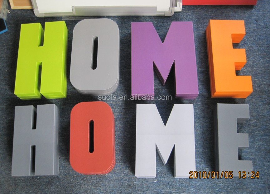 Large 3d Paper Mache Letters Home Decor Wall Letter