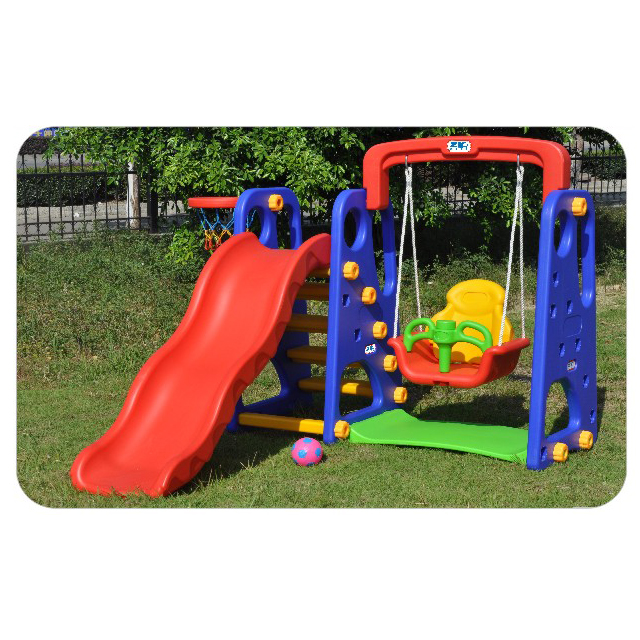 Baby play house indoor plastic <strong>slide</strong> and swing toy playground set for sale