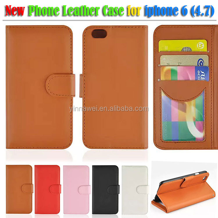 Highe quality wallet card holder Leather Case For Apple New iPhone 6
