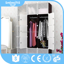 High Quality Plastic Foldable Wardrobe New 8 Cubes Diy Plastic Modern Home Storage Cabinets Wardrobe