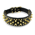 Leather Dog Collar, Leather Heavy Dog Collar,Sharp Spiked Dog Collars