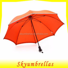 Orange color trekking umbrella with reflective piping