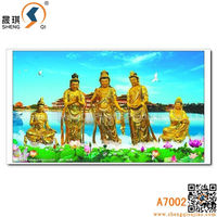 Images Changing Effect Majestic 3D Buddha Painting
