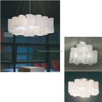 fancy folding fabric pendant light,ring ceiling lamp