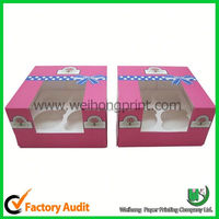custom design cupcake boxes,cute paper board cupcake box