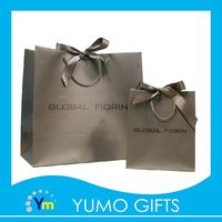 silk ribbon decorate handle shopping gift paper bag packaging