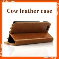 Flip leather cow leather cases mobile phone cover for iphone 6plus