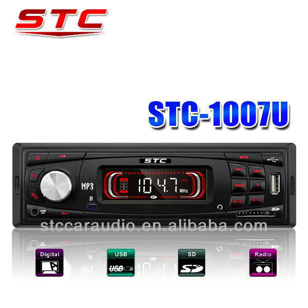 Deckless car am/fm radio MP3 Player ST-1007U with LCD screen