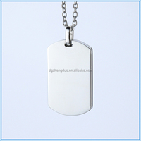 High quality jewelry high polish item free engraved custom size pendant stainless steel cheap dog tag necklace