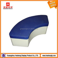 Furniture for clothing store leather covered long display bench