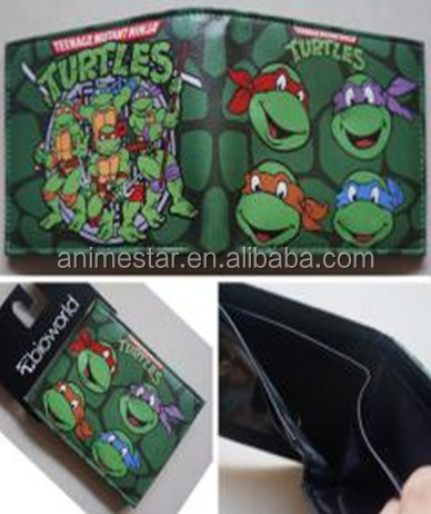 Teenage Mutant Ninja Turtles Anime Wallet, Coaplay PU Purse