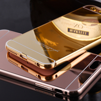 For samsung galaxy note 3 phone case, metal bumper pc mirror 2in1 phone housing mobile phones accessories best selling item